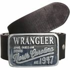 "WRANGLER ""Denim Buckle"" Cut to Fit Belt in Black Leather in Size XS TO XXXL"