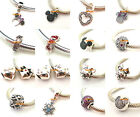 925 Sterling Silver Mickey and Minnie Series CZ Fit Bead European Charm Bracelet
