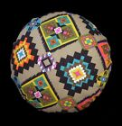 AL250n Sand Black Yellow White Geometric Cotton Canvas Round Cushion Cover Size