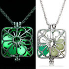 Fashion Men Women Unisex Pendant Luminous Glow In The Dark Locket Necklace