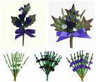 Thistle and Heather Artificial Buttonhole Scottish Wedding Sprays Card Crafts