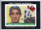 2014 Topps Manufactured Commemorative Rookie Card Patch #RCP3 Sandy Koufax