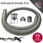 Flexible Flue Liner Pack Kit Multifuel Anti Down Draught Hanging Cowl