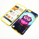 Full Moon Owl Hybrid ShockProof Phone Cover Case For Apple iPod Touch 5th Gen