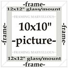 Black Wooden Photo Picture Frame with Black Mount - Choose size