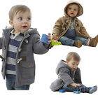 Boys Baby Jacket Winter Thicken Kids Outerwear Coat Clothing Horn Hooded Tops