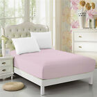 CC&DD Fitted Sheet Microfiber Luxury Super Silky Soft Deep Pockets Baby-pink image