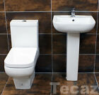 Mini Cloakroom Basin & Toilet Set Suite Short Projection Square Style Sink Tecaz
