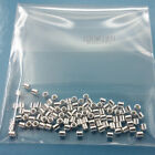 100PC Solid Sterling Silver Tube End Crimp Beads Spacers [Choose Size]