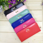 Chic 1PC Women PU Leather Bowknot Wallet Long 16 Card Holders Purse Handbag