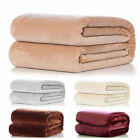 Warm Super Soft Large Fleece Sofa Bed Cover Blanket Throw For Winter Multi-Color