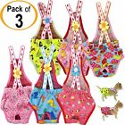 SET of 3 COLORS Diaper Sanitary Pants Stay On Female Suspenders For SMALL Dog