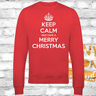 KEEP CALM AND HAVE A MERRY CHRISTMAS JUMPER / SWEATSHIRT - RED