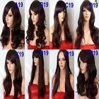 BLACK PLUM Long Wavy Straight FULL WOMEN LADIES HAIR WIG costume Halloween