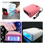 Babz 36 Watt Professional UV Shellac Gel Nail Lamp Dryer with bulbs and timer