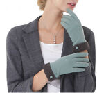 lady's fashion winter warm classic  touch screen fleece wool gloves four colors