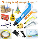 3D Air Printing Pen Stereoscopic Drawing Arts Crafts Free 3 Filaments Kids Gifts