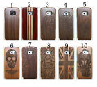 New Engraving Real Natural Wooden Phone Case Cover For Samsung Galaxy S6