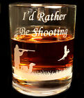 Engraved Shooting glass whisky drinks  tumbler, farming shooting country gift