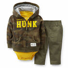Carters 3 6 9 12 Months Camouflage Terry Cardigan Pants Set Baby Boy Clothes