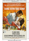 Gone with the Wind Vintage Movie Film Poster Gable [6 sizes, matte+glossy avail]