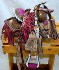 Pony Youth Western Ultimate Package! Purple Pink Saddle + Headstall Set