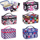 Women Multifunction Travel Cosmetic Bag Makeup Case Toiletry Organizer w/ Mirror