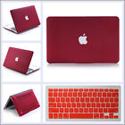 Quicksand Wine Red Hard Case Cover + Keyboard Skin For Macbook Air Pro 11 13 ''