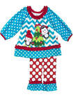RARE EDITIONS BLUE KNIT TOP PENGUIN TREE  SET SIZE 12M TO 6X H174695
