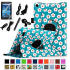 7in1 Bundle Rotating Stand Case Cover for 2015 Amazon Fire 7 Tablet (5th Gen)