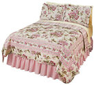 Collections Etc Pretty Peony Floral Quilt