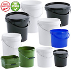 PLASTIC BUCKETS CONTAINERS WITH LIDS VARIOUS SIZES 1.0 2.5 5 10 15 20 25 32LITRE