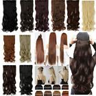 Half Full Head 1 piece Clip in on Hair Extensions Real like own hair use costume