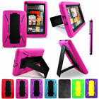 Amazon Kindle Fire Rugged Hard Soft Case Cover With Stand Kickstand Heavy Duty