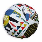 LL408n Green Blue White Black Mustard Red Cotton Canvas Round Shape Cushion Case