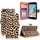 Leather Phone Wallet Card & Money Stand Holder Case Cover For Samsung LG HTC
