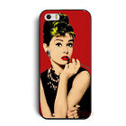 New Pretty Audrey Hepburn Hard Shell Case Cover For iPhone 4 4G 4S 5 5G 5S