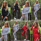 2015 Womens Tracksuit Hoodies Sweatshirt Pants Sets Sport Wear crown Casual Suit