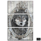 Shabbby Chic Wolf Wood Vintage BOX FRAMED CANVAS ART Picture HDR 280gsm