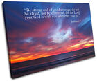 Inspirational Quotes Bible Religion SINGLE CANVAS WALL ART Picture Print VA