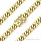 6.6mm Miami Cuban Curb Link Sterling Silver 14k Yellow Go...