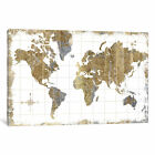 All That Glitters Gilded Map | Canvas Art Print