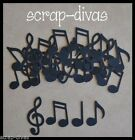 Scrapbooking MUSIC NOTE SET Embellishments Die Cuts x 40