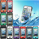 Waterproof Shockproof Tempered Glass Screen Durable Case For Apple iPhone 5 5S