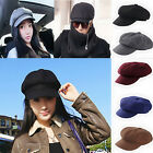 Women Men Warm Winter Cap Cabbie Newsboy Gatsb Hat Golf Driving Flat New