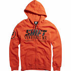 SHIFT MX BLOOD ORANGE STOCKADE FRONT ZIP UP HOODY HOODIE SWEATSHIRT GUYS ADULT