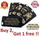 STAR WARS PHONE CASE HARD COVER IPHONE 6 S 6S PLUS + BLACK GOLD THE LAST JEDI $6.58 CAD