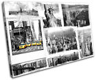 New York Grunge City SINGLE CANVAS WALL ART Picture Print