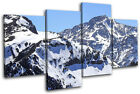 Mountain Snow Landscapes MULTI CANVAS WALL ART Picture Print