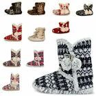 NEW WOMENS DUNLOP FURRY ANKLE BOOT BOOTEE LADIES WINTER ESKIMO SLIPPERS SHOES